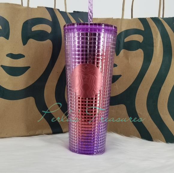 Starbucks Summer 2021 Berry Pink Purple Red Grid Venti Cold Tumbler Cup